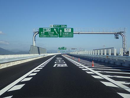 東海環状自動車道(養老JCT~養老IC間)開通に伴う標識設置工事を行い ...
